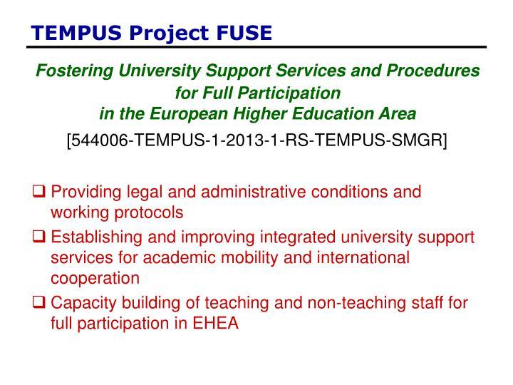 TEMPUS Project FUSE