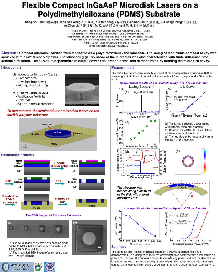 Flexible Compact InGaAsP Microdisk Lasers on a Polydimethylsiloxane (PDMS) Substrate
