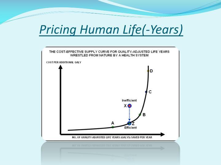 Pricing Human Life(-Years)