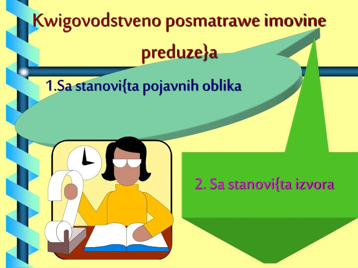 Kwigovodstveno posmatrawe imovine  preduze}a
