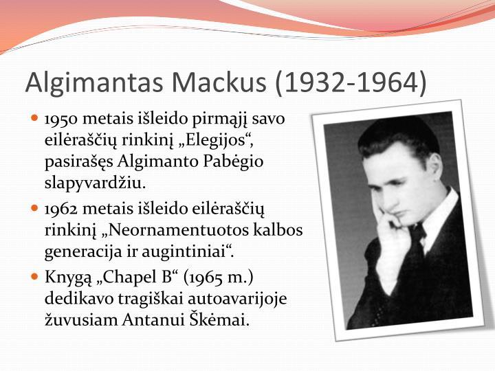Algimantas Mackus (
