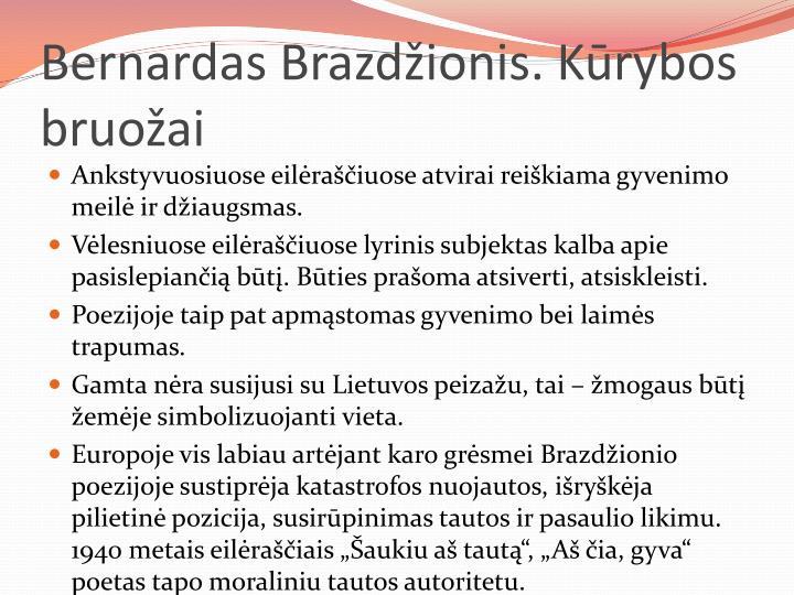 Bernardas Brazdžionis. Kūrybos bruožai