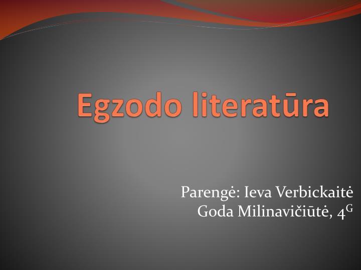 Egzodo literatūra