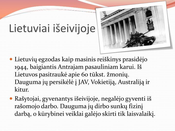 Lietuviai išeivijoje