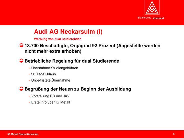 Audi AG Neckarsulm (I)