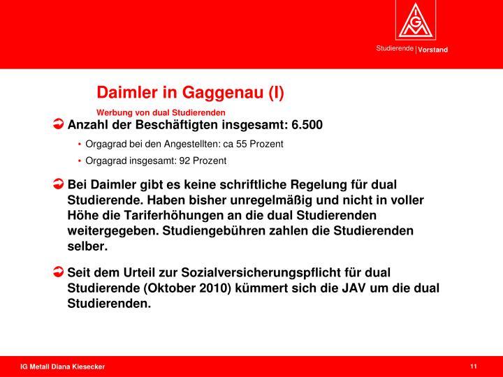 Daimler in Gaggenau (I)