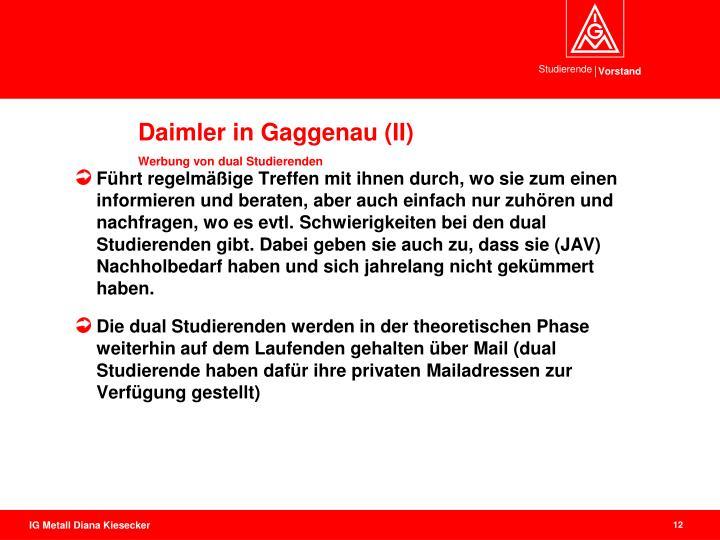 Daimler in Gaggenau (II)
