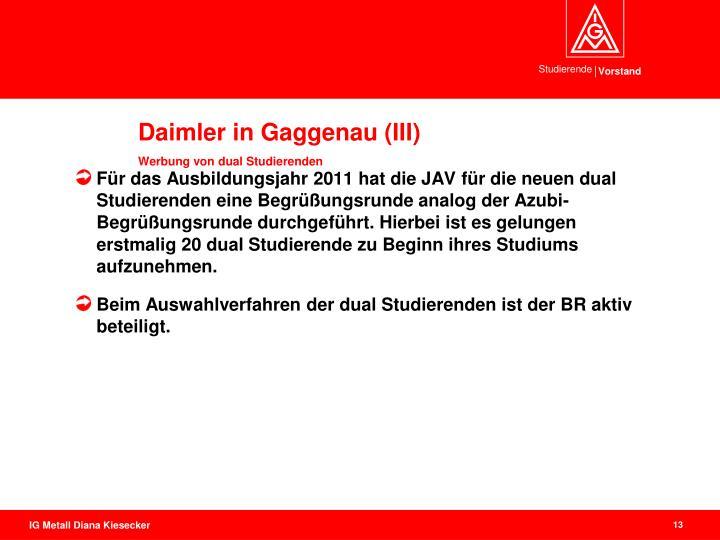 Daimler in Gaggenau (III)