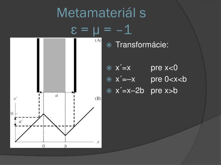 Metamateriál s