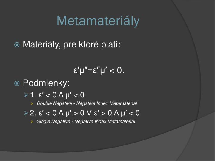 Metamateriály