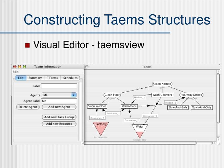 Constructing Taems Structures