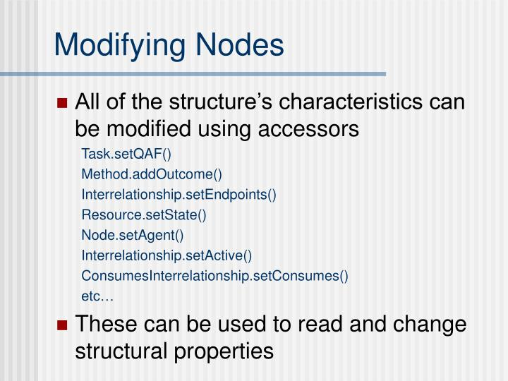 Modifying Nodes