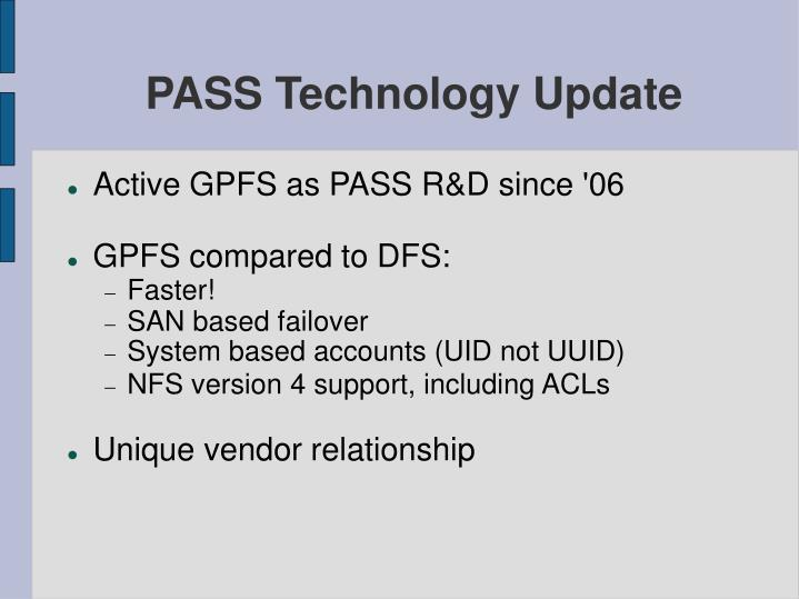 Pass technology update1