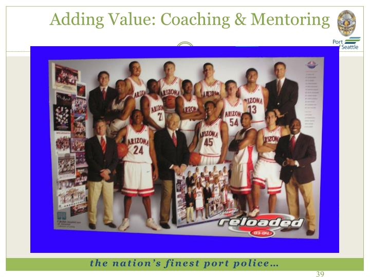 Adding Value: Coaching & Mentoring