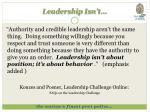 leadership isn t