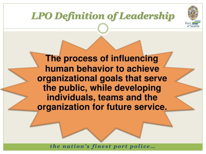 LPO Definition of Leadership