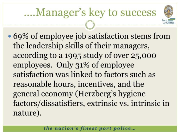 ….Manager's key to success