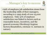 manager s key to success