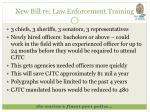 new bill re law enforcement training