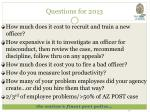 questions for 2013