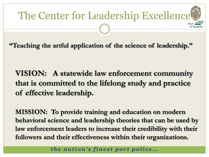 The Center for Leadership Excellence