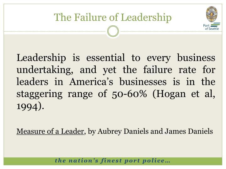 The Failure of Leadership