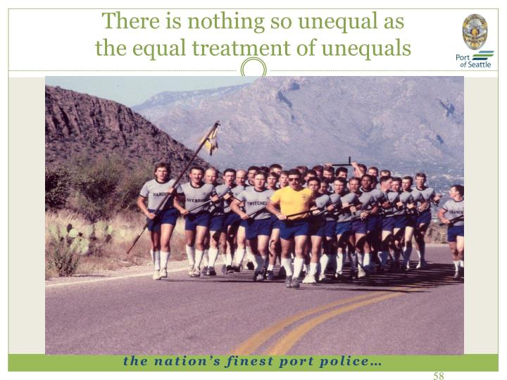 There is nothing so unequal as