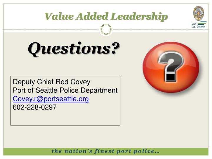 Value Added Leadership