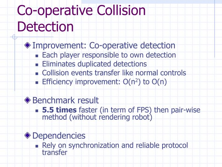 Co-operative Collision Detection