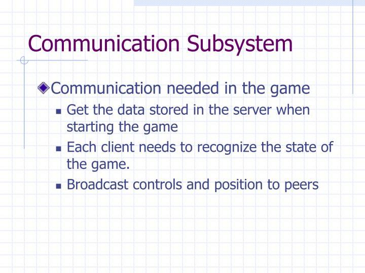 Communication Subsystem