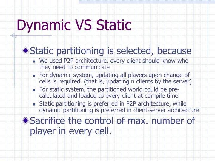 Dynamic VS Static