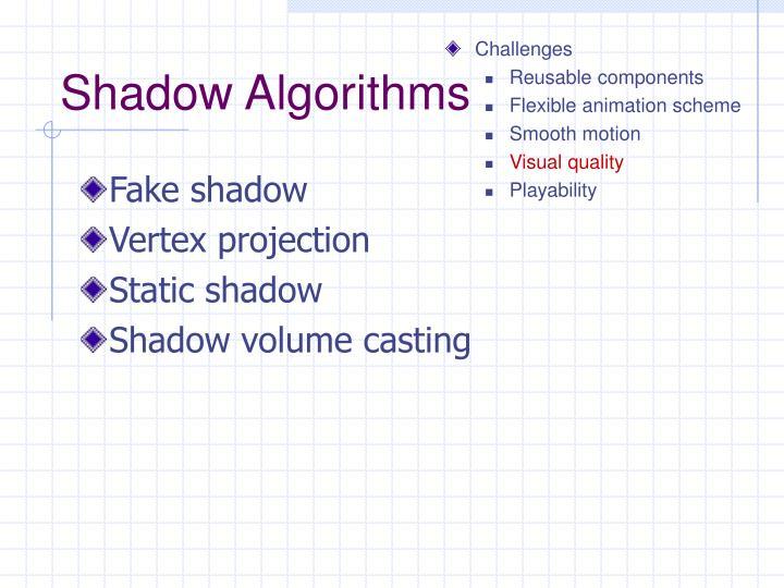 Shadow Algorithms