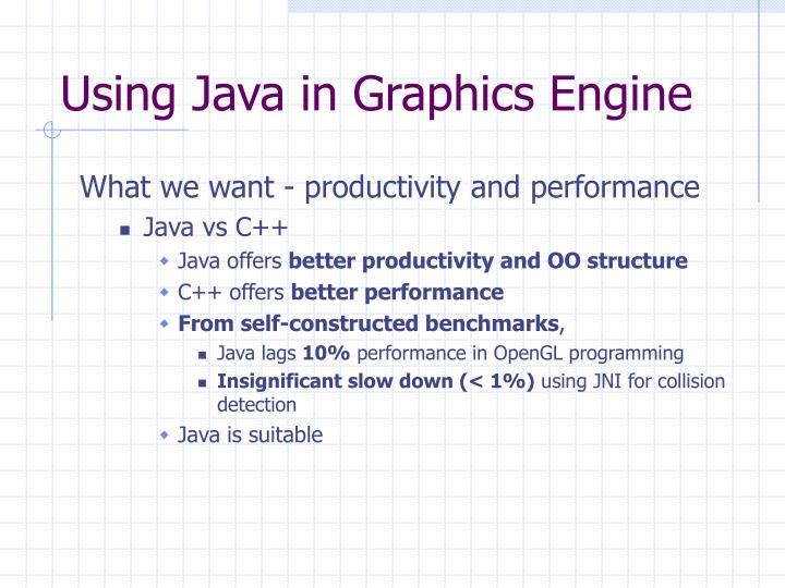 Using Java in Graphics Engine