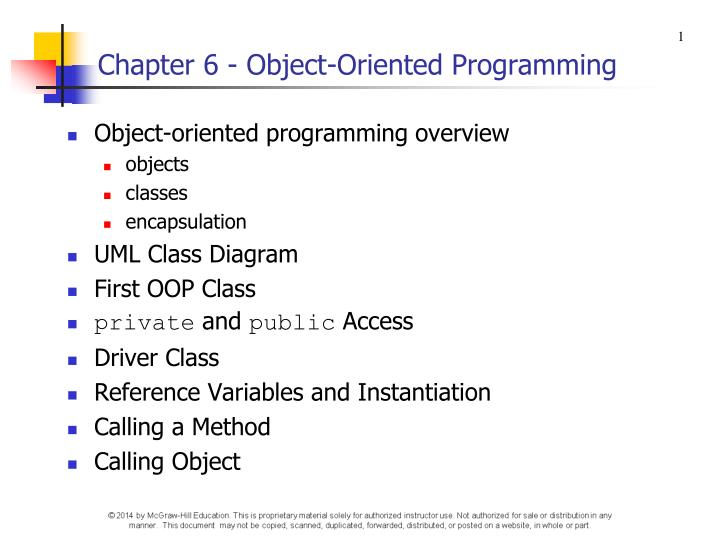 Chapter 6 object oriented programming