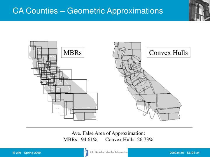 CA Counties – Geometric Approximations