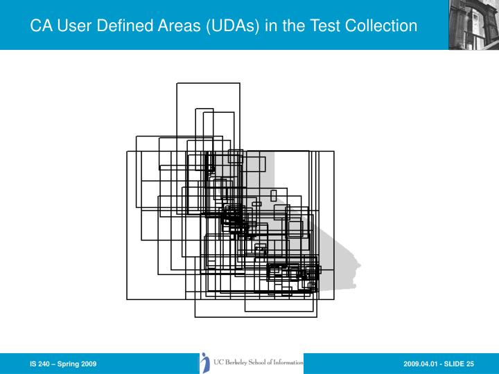 CA User Defined Areas (UDAs) in the Test Collection