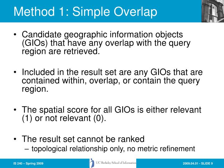 Method 1: Simple Overlap