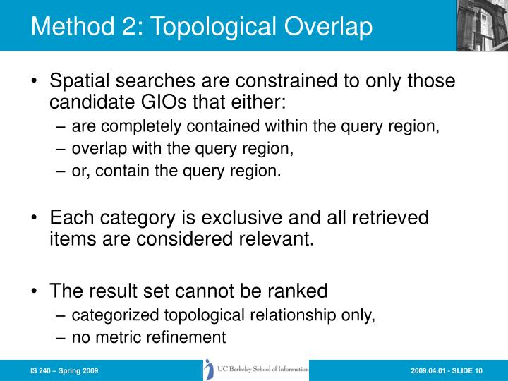 Method 2: Topological Overlap