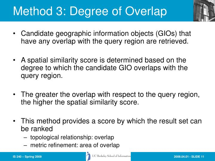 Method 3: Degree of Overlap