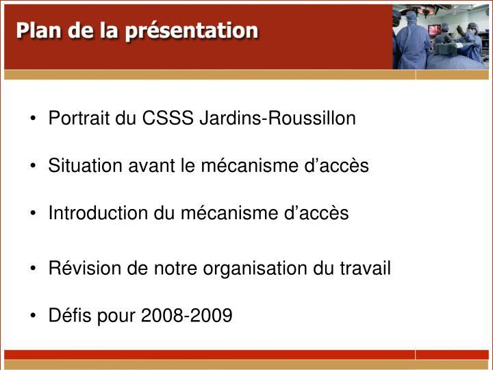 Portrait du CSSS Jardins-Roussillon