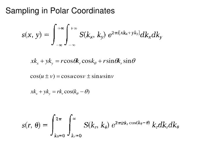 Sampling in Polar Coordinates