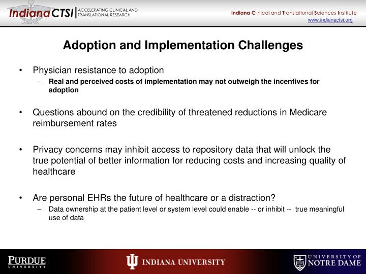 Adoption and Implementation Challenges