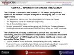 clinical information drives innovation