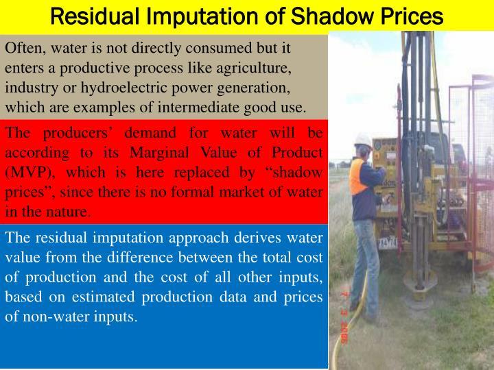 Residual Imputation of Shadow Prices