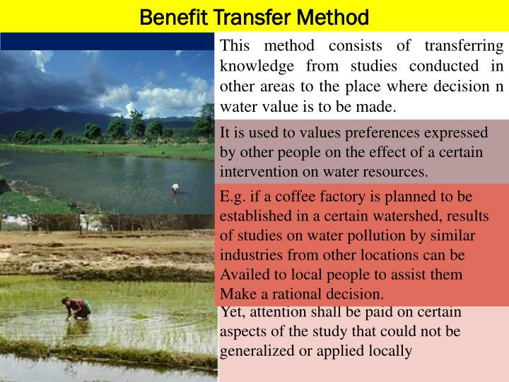 Benefit Transfer Method