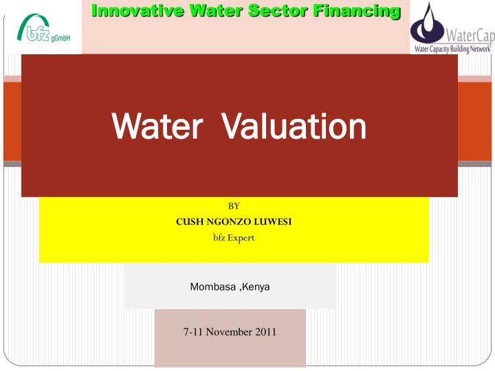 Water valuation