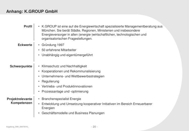Anhang: K.GROUP GmbH