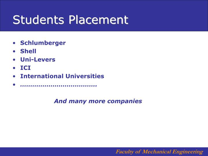 Students Placement