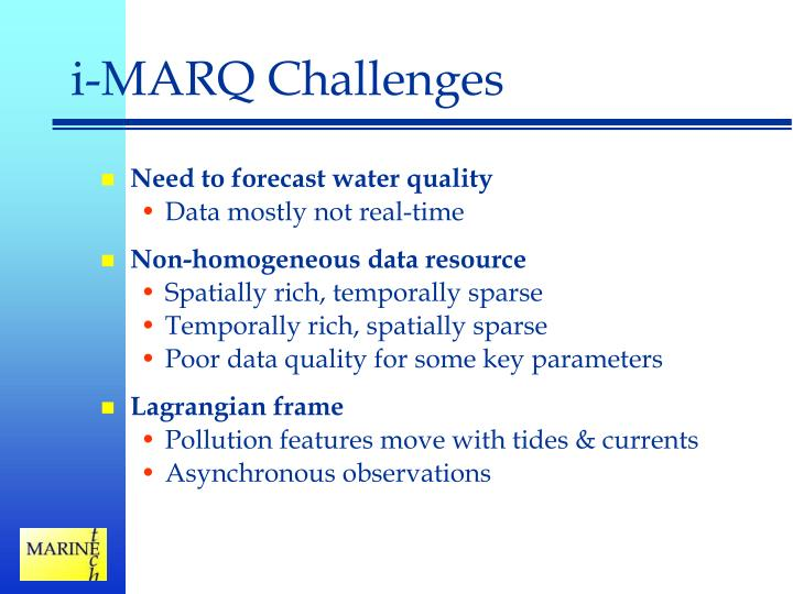 i-MARQ Challenges
