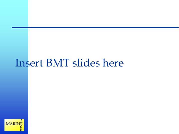 Insert BMT slides here